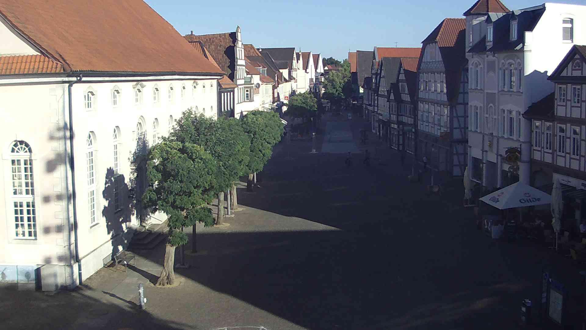Webcam - Blick in die Fußgängerzone vom Rathaus aus